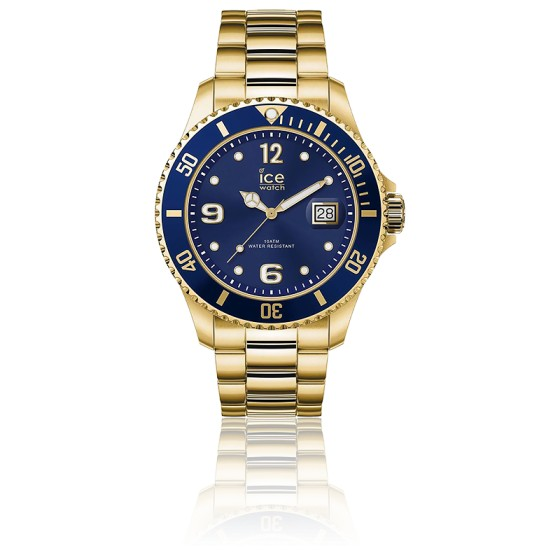 Montre ICE Steel Gold Blue Large  016762L