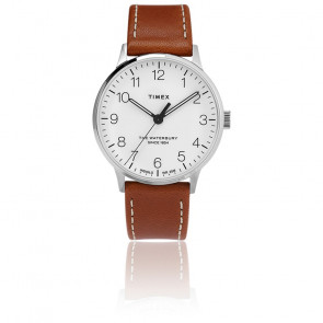 Montre Waterbury Men's 40mm White Dial Leather TW2T27500