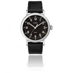 Montre Standard 40mm Silver-Tone Black Leather TW2T20200