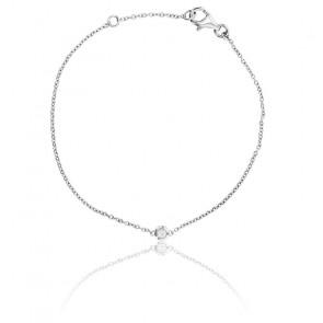 Bracelet Bright Or Blanc 9K et Diamant 0,05 ct