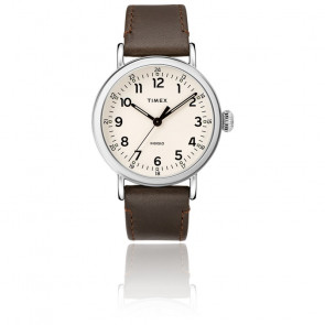 Montre Standard 40mm Case White Brown Leather TW2T20700