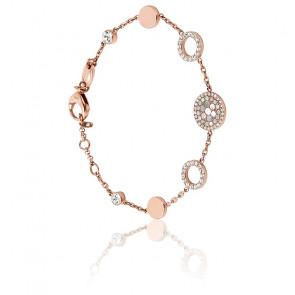 Bracelet Halo Nacre & Acier Doré Rose