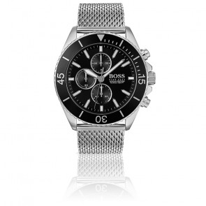 Montre Ocean Edition Chronographe Homme Milanaise Silver/Noir 1513701