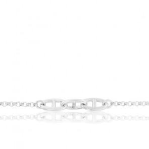 Bracelet 3 Maillons Marins Argent