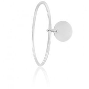 Bracelet Jonc Pendentif 20 mm Argent