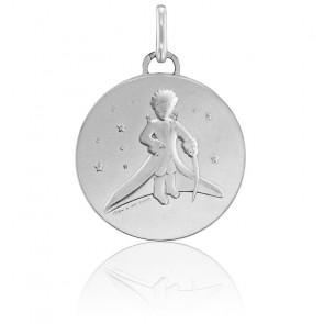 """Médaille """"Petit Prince dans les Etoiles"""" Argent"""