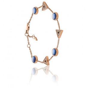Bracelet géométrique en acier inoxydable doré rose JF03012791