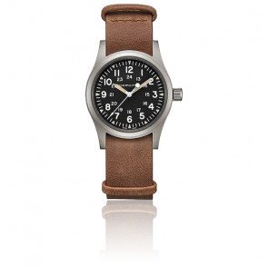 Montre Khaki Field Mechanical Brown Leather Nato H69439531