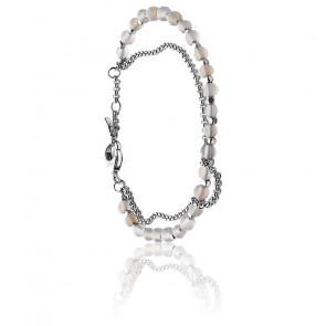 Bracelet Double Pierres Agates
