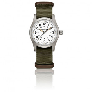 Montre Khaki Field Mechanical White Dial H69439411