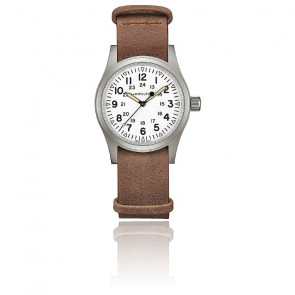 Montre Khaki Field Mechanical Brown Leather Nato H69439511