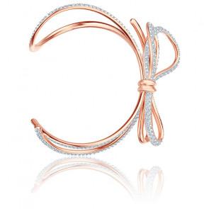 Bracelet Manchette Lifelong Bow Métal Rhodié & Doré Rose
