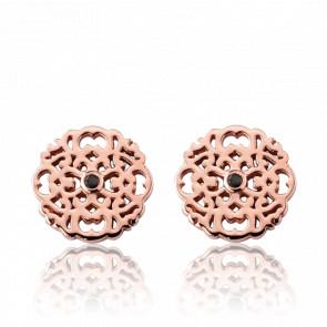 Boucles d'oreilles Mini Dentelle Vermeil Or rose