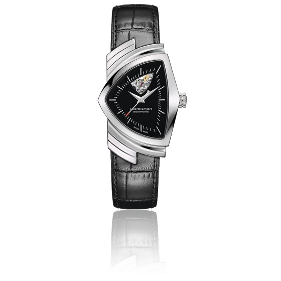 Montre Ventura Auto Black Open Heart H24515732