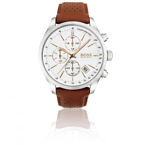 Montre Homme Grand Prix Chrono cuir Marron 1513475