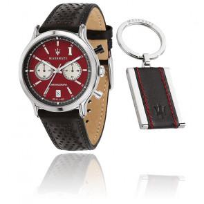 Coffret Montre Legend 42mm CHR D.Red Dial Blk ST R8871638002