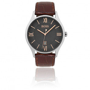 Montre Homme Governor marron or rose 1513484