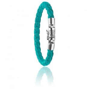 Bracelet Ben XS Round Cuir Turquoise