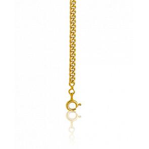 Chaîne Gourmette Diamantée 50 cm Or Jaune