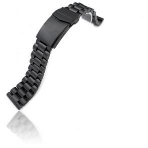 Bracelet 22mm 316L Stainless Steel Endmill Metal PVD Black SS221820BBK033S Straight End