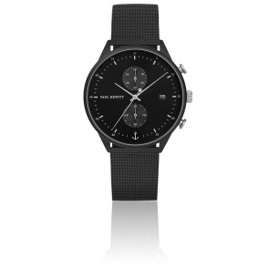 Montre Chrono Black Sunray Mesh PH-C-B-BSS-5M