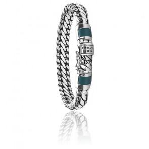 Bracelet Ben XS Calcédoine Verte & Argent