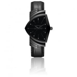 Montre Ventura L Black PVD Quartz H24401731