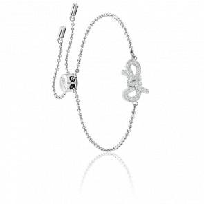 Bracelet Lifelong Bow Blanc & Métal Rhodié