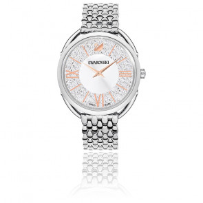 Montre Crystalline Glam Métal Blanc Ton Argenté 5455108