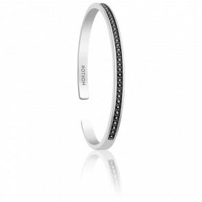 Bracelet Black Zircons & Argent
