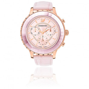 Montre Octea Lux Chrono Bracelet Cuir Rose Or Rose 5452501
