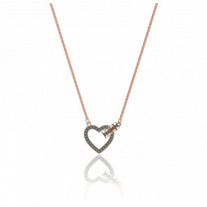 Collier Lovely Gris & Plaqué Or Rose