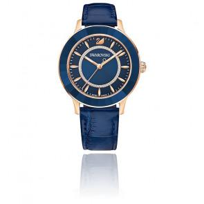 Montre Octea Lux Bracelet Cuir Bleu Or Rose 5414413