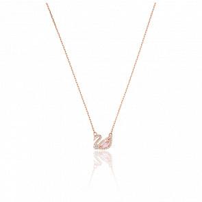Collier Dazzling Swan Multicolore & Plaqué Or Rose