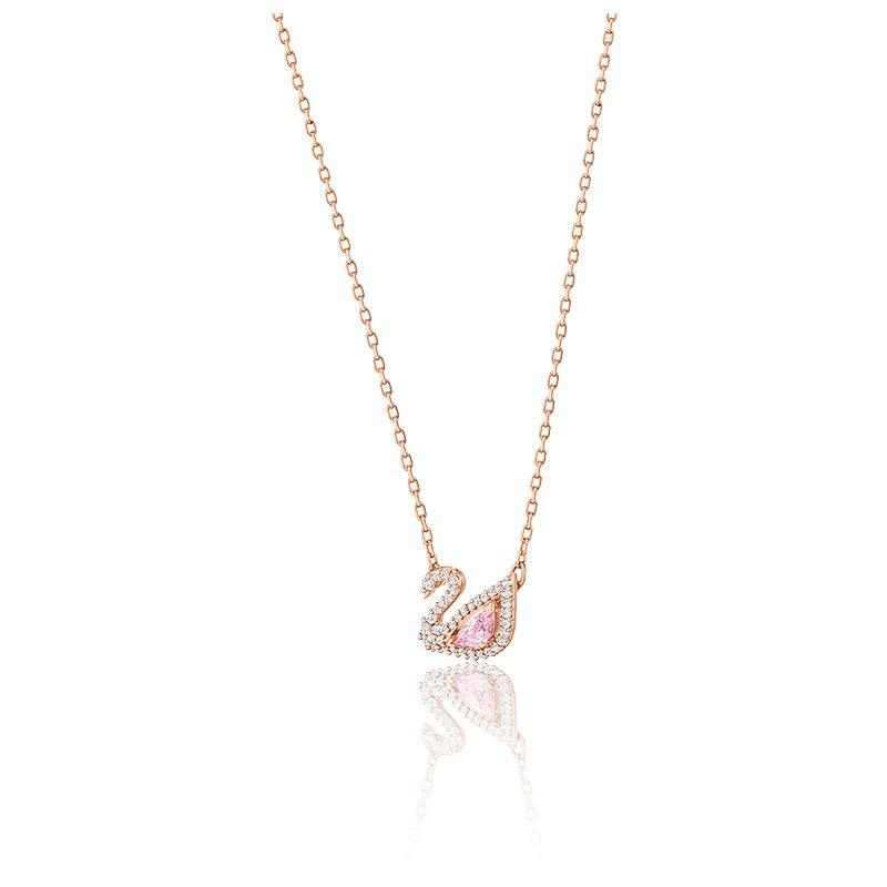 Collier Dazzling Swan Multicolore & Plaqué Rose - Swarovski - Ocarat