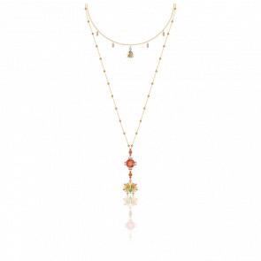Collier Lucky Goddess Multicolore & Métal Doré