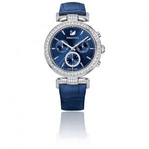Montre Era Journey Bracelet Cuir Bleu Ton Argenté 5479239