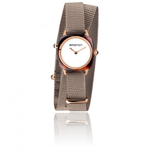 Montre Clubmaster Lady Acétate Ecaille Or Rose Taupe 19924.PRA.T.2.NT