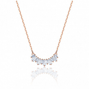 Collier Sunshine Blanc & Plaqué Or Rose