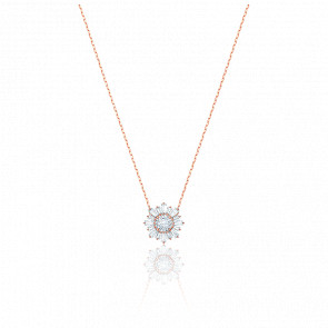 Collier Sunshine Rond Blanc & Plaqué Or Rose