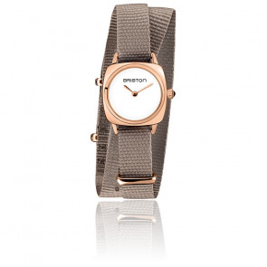 Montre Clubmaster Lady Acier Or Rose Taupe 19924.SPRG.M.2.NT