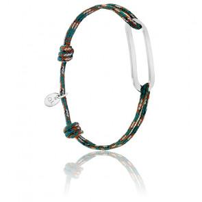 Bracelet figaro armée & argent brossé