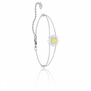 Bracelet Sunshine Blanc & Métal Rhodié