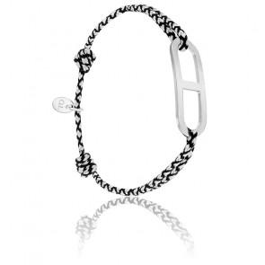 Bracelet gaby GM chrome & argent brossé