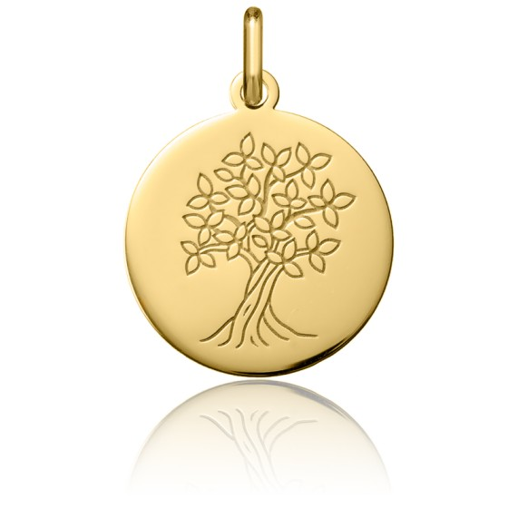 Médaille Arbre de Vie Or Jaune 18K