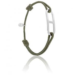 Bracelet gaby GM kaki & argent