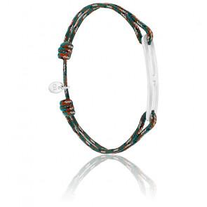 Bracelet gaby slim XL armée & argent brossé