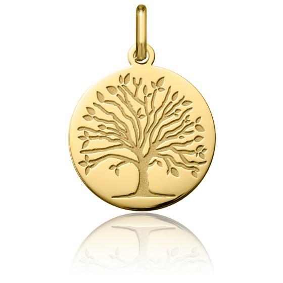 Médaille Arbre de Vie Printemps Or Jaune 18K