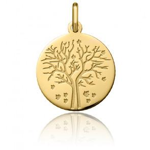 Médaille Arbre de Vie Automne Or Jaune 18K