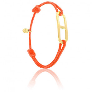 Bracelet gaby GM orange & vermeil jaune